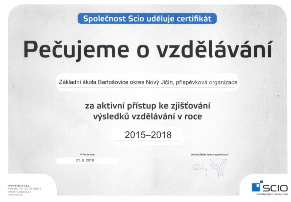 SCIO certifikat 15-18