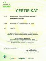 Certifikát Recyklohraní
